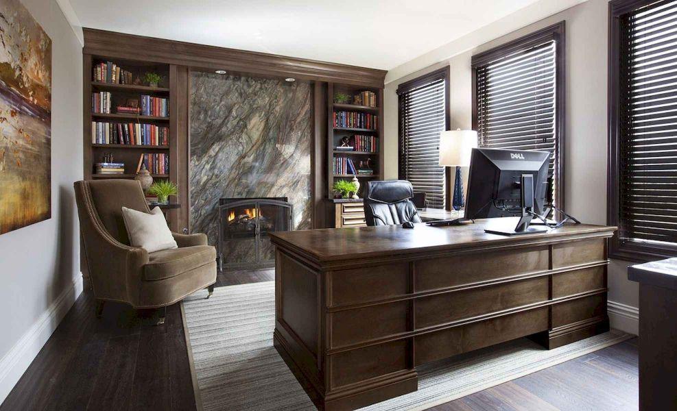 Дизайн интерьера домашнего кабинета в классическом стиле