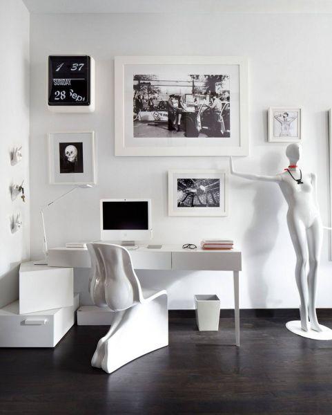 Как оформить кабинет в стиле хай-тек