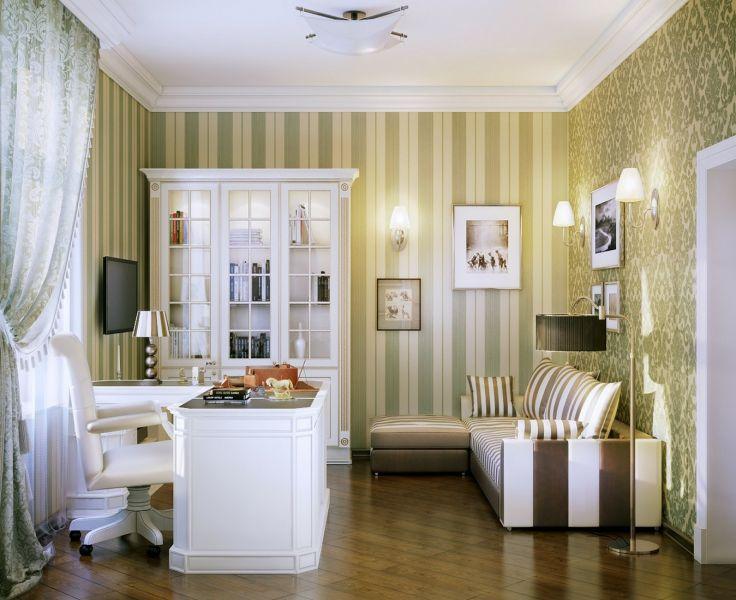 Интерьер домашнего офиса в стиле модерн