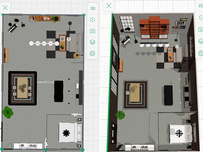 Визуализация интерьера в приложении Planner 5D