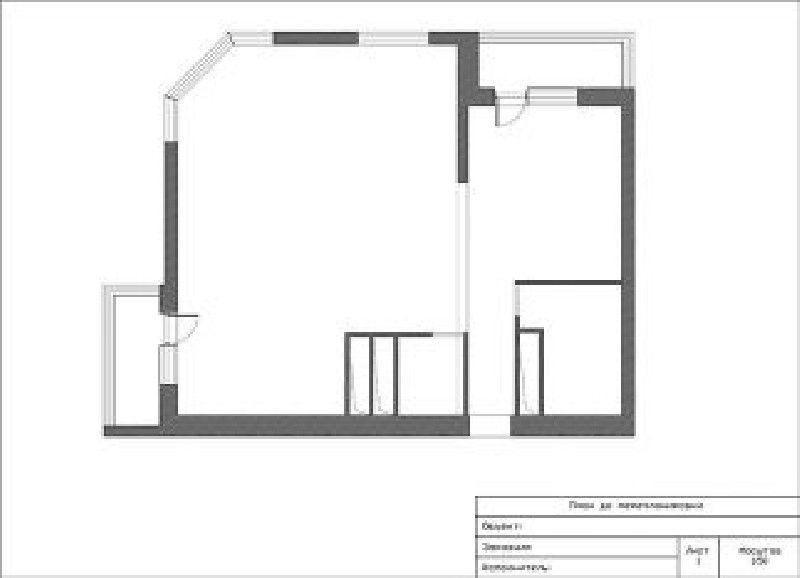 Обмерочный план помещения