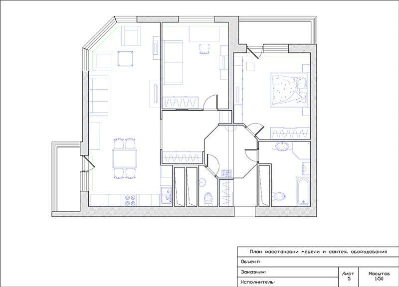 План помещения после перепланировки