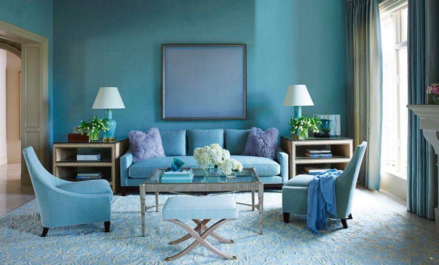 Цвет в интерьере - синий