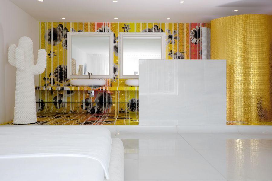 Дизайн ванной в стиле постмодерн
