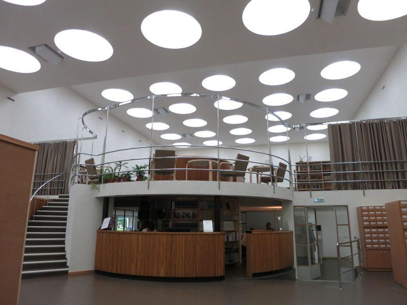 Оформление библиотеки, Алвар Ааалто