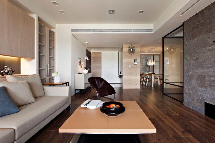 Оформление гостиной в стиле конструктивизм