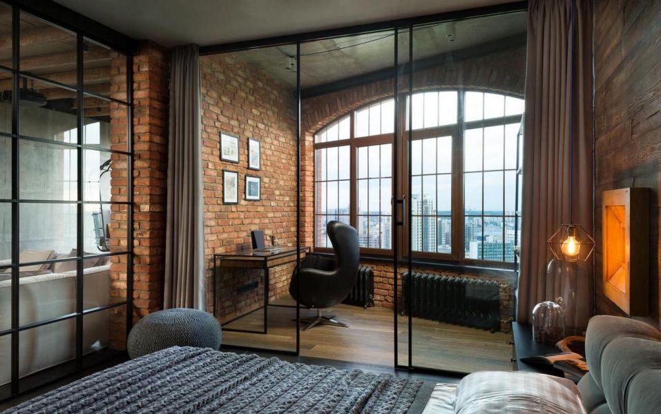 Окна в квартире в стиле лофт