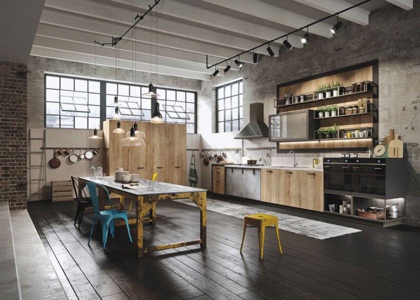 Оформление кухни в стиле loft