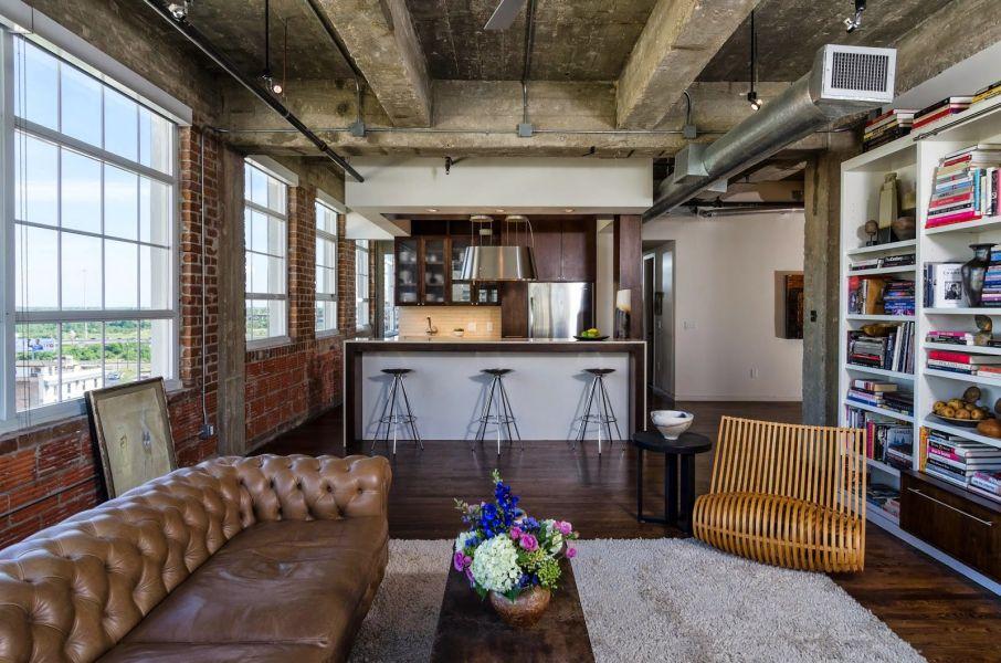 Интерьер квартиры в стиле loft (лофт)