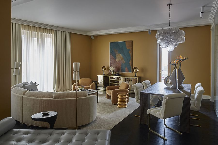 Декорирование гостиной в нью-йоркском стиле