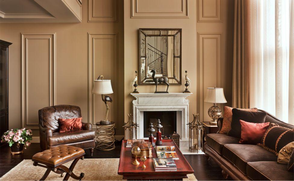 Дизайн интерьера гостиной, нью-йоркский стиль