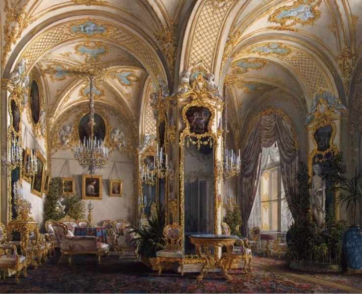 Исторический интерьер в стиле рококо