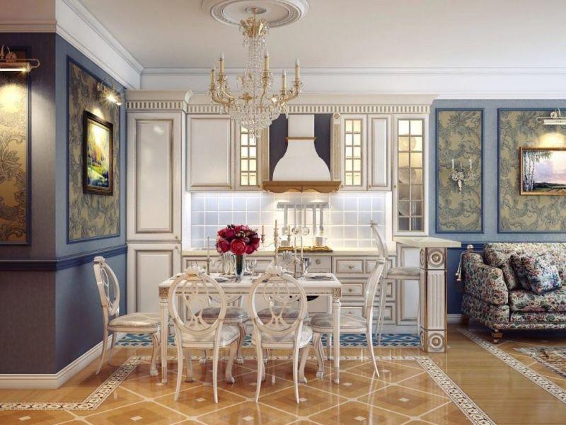 Отделка интерьера в стиле рококо