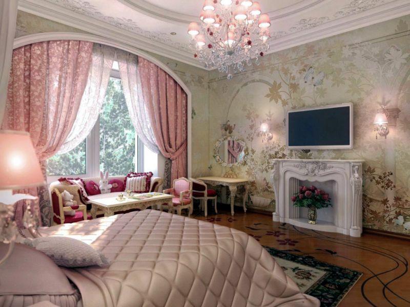 Окно и шторы в стиле рококо