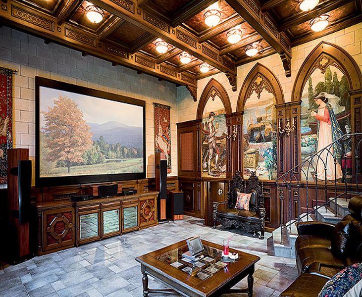 Гостиная в стиле готика
