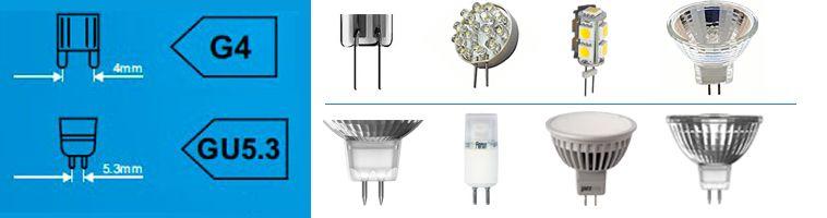 Лампы с цоколем G4, GU5.3