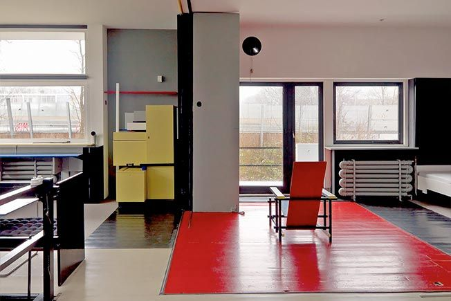 Интерьеры по проекту Gerrit Rietveld
