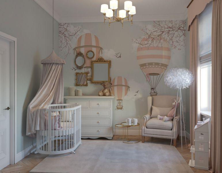 Интерьер детской для новорожденного малыша