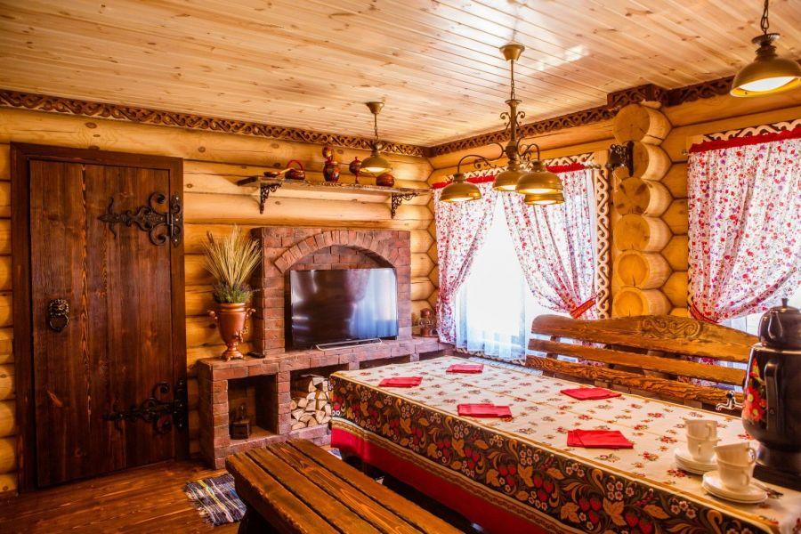 Русский стиль в дизайне интерьера бани