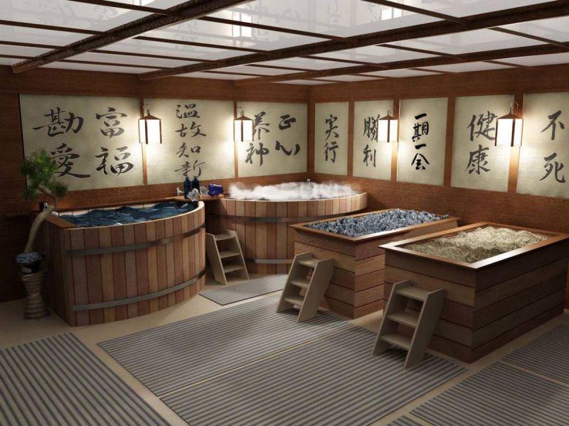 Баня в японском стиле