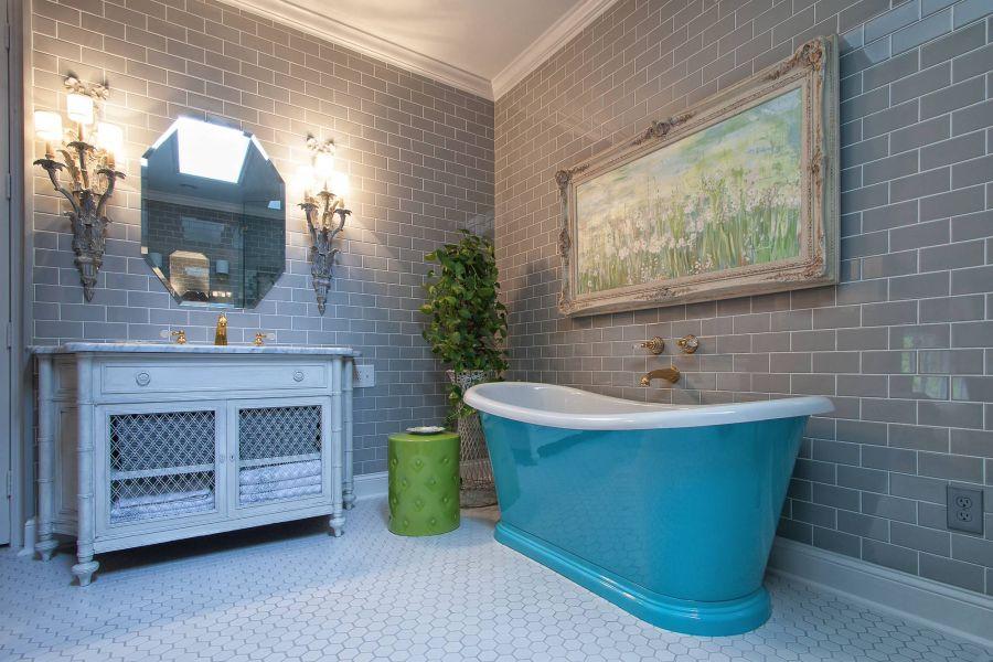 Комната с фугунной ванной