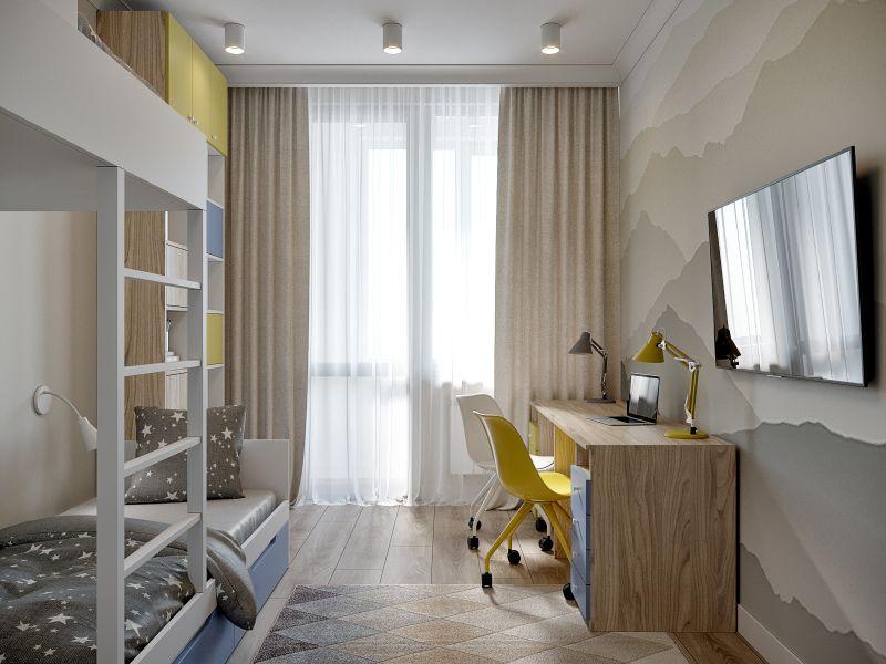 Проект комнаты для двух детей