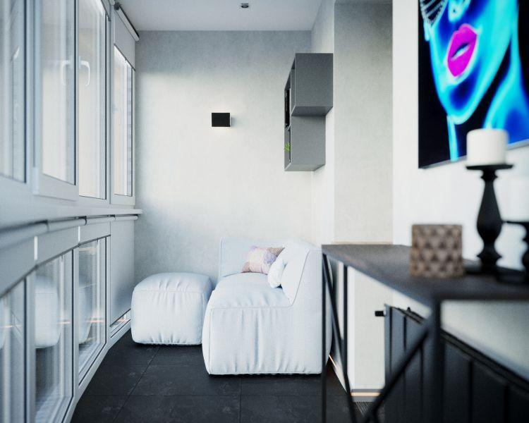 Балкон в двухкомнатной квартире