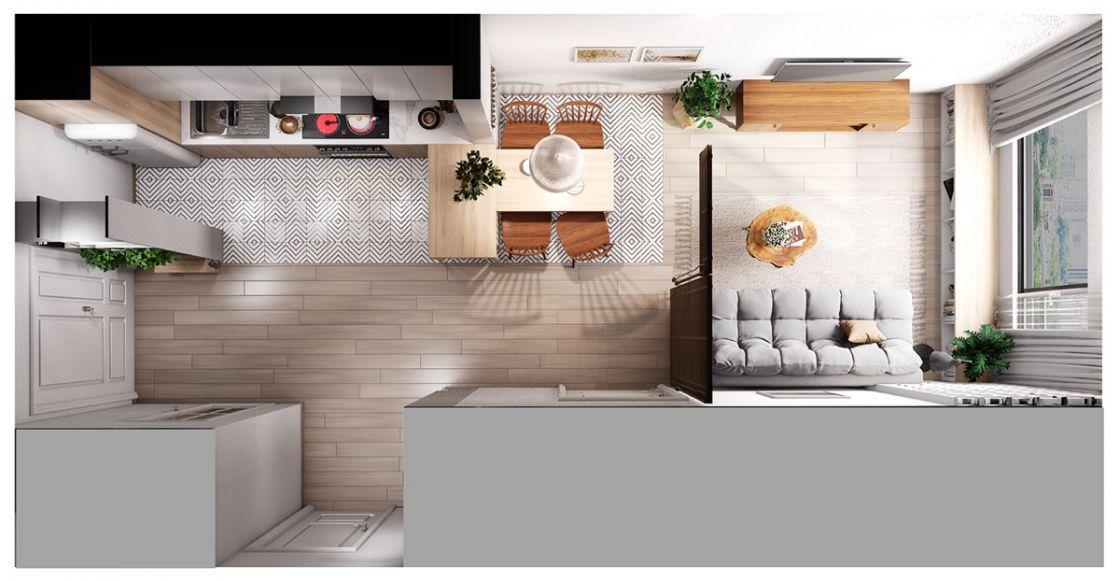 Планировка квартиры с кухней-гостиной