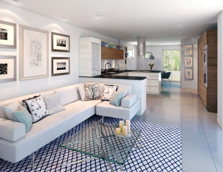 Дизайн интерьера светлой гостиной