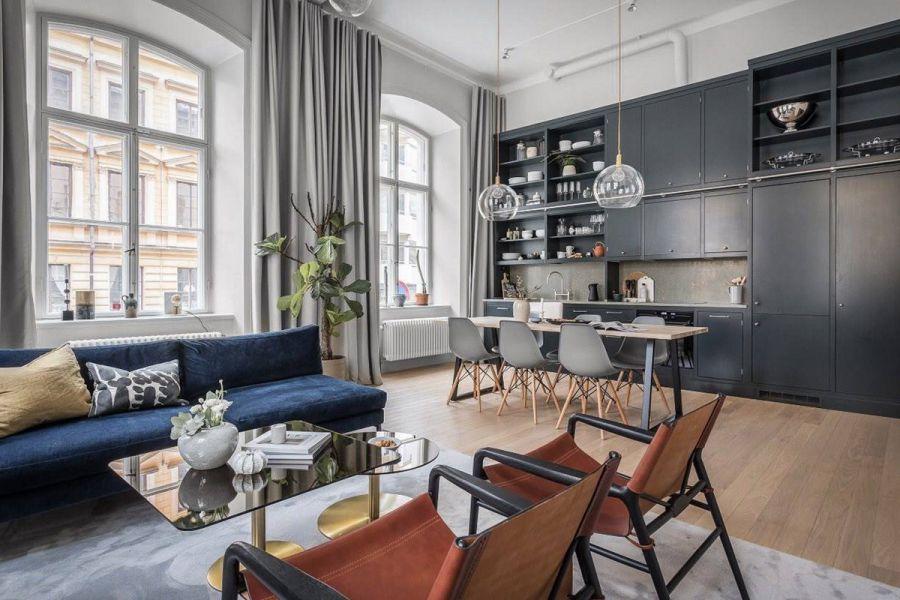 Современная классика в дизайне интерьера гостиной