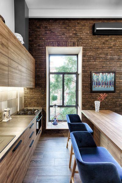 Кухня в квартире-лофт