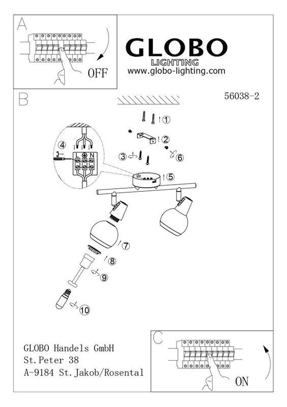 Светильник настенно-потолочный (спот) KARDE 56038-2. Фото №3