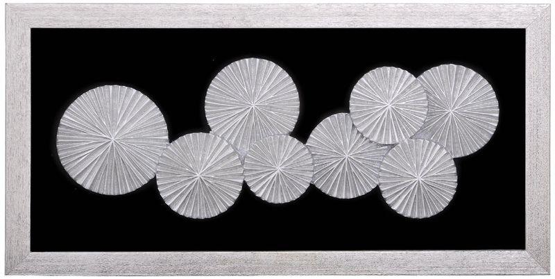 Панно Зонтики в раме (рама серебро) 35935