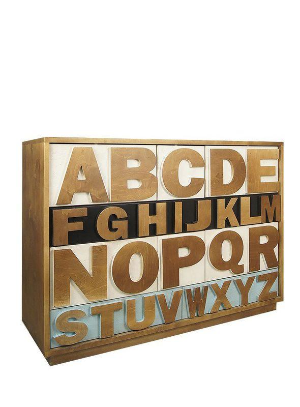 """Комод """"Alphabeto Birch"""" темный AL-01/1ETG/4. Фото №10"""