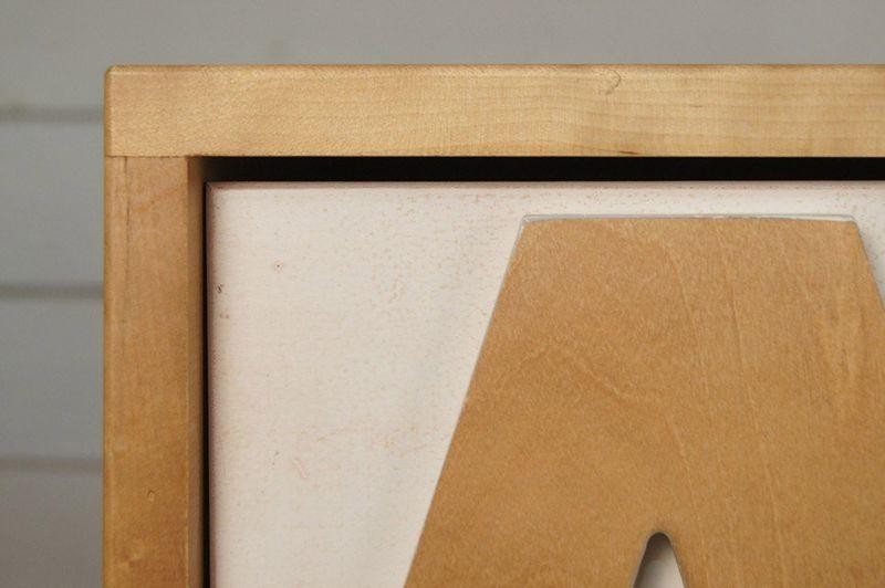 """Комод """"Alphabeto Birch"""" темный AL-01/1ETG/4. Фото №1"""