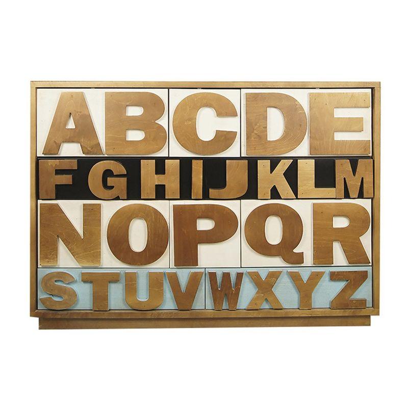 """Комод """"Alphabeto Birch"""" темный AL-01/1ETG/4. Фото №2"""