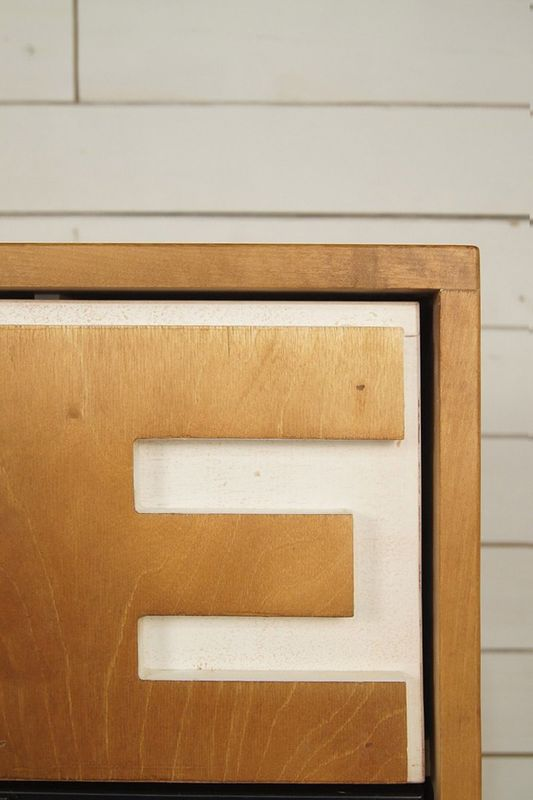 """Комод """"Alphabeto Birch"""" темный AL-01/1ETG/4. Фото №5"""