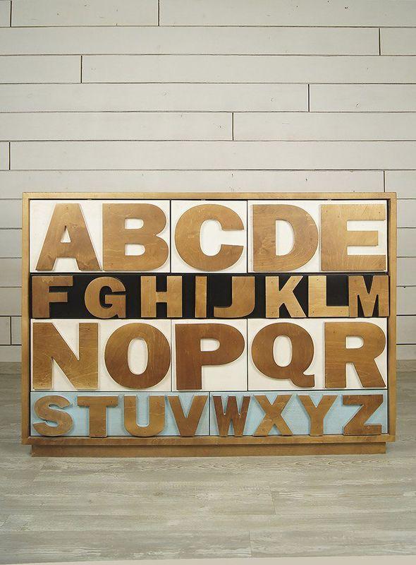 """Комод """"Alphabeto Birch"""" темный AL-01/1ETG/4. Фото №7"""