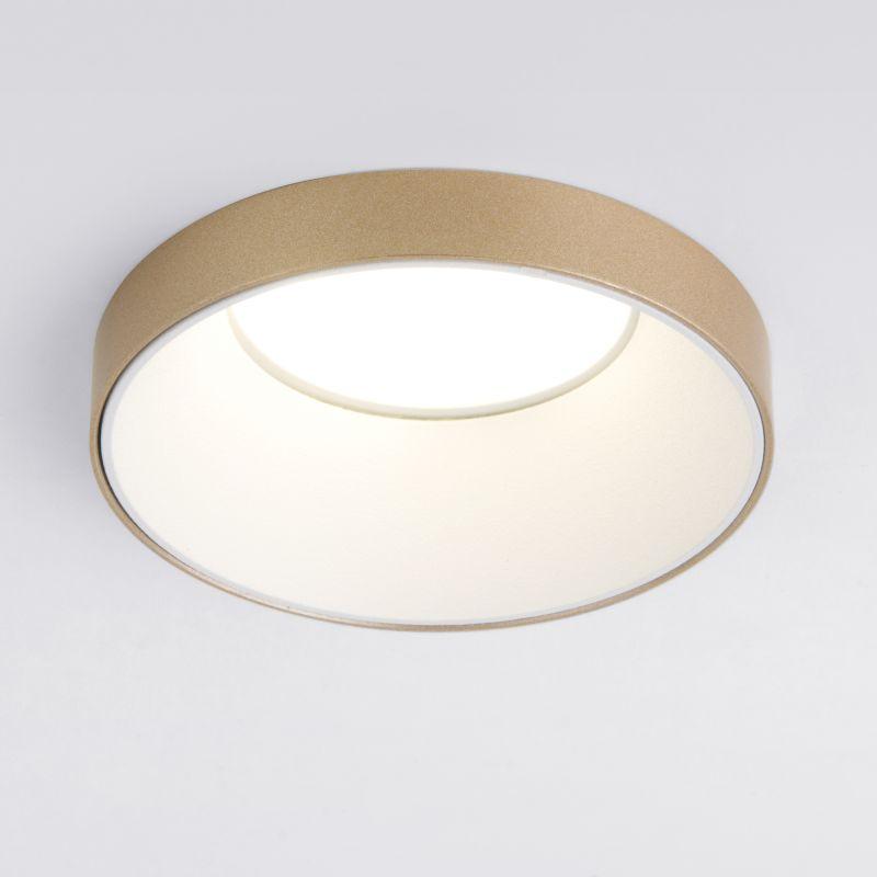Встраиваемый точечный светильник золото Elektrostandard 112 MR16