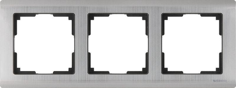 Рамкана3поста(глянцевыйникель) W0031602