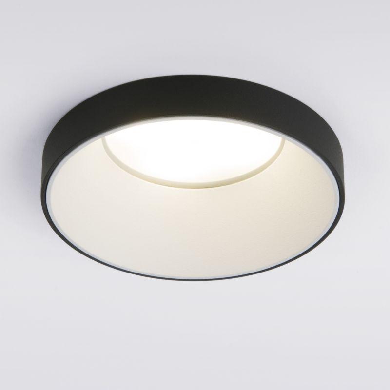 Встраиваемый точечный светильник черный Elektrostandard 112 MR16