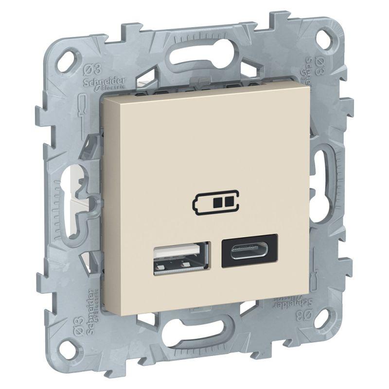 Розетка USB Schneider Electric Unica NEW BD-1511081