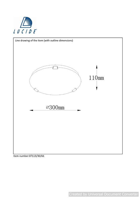 Потолочный светильник ALBASTRO 07113/30/66. Фото №2