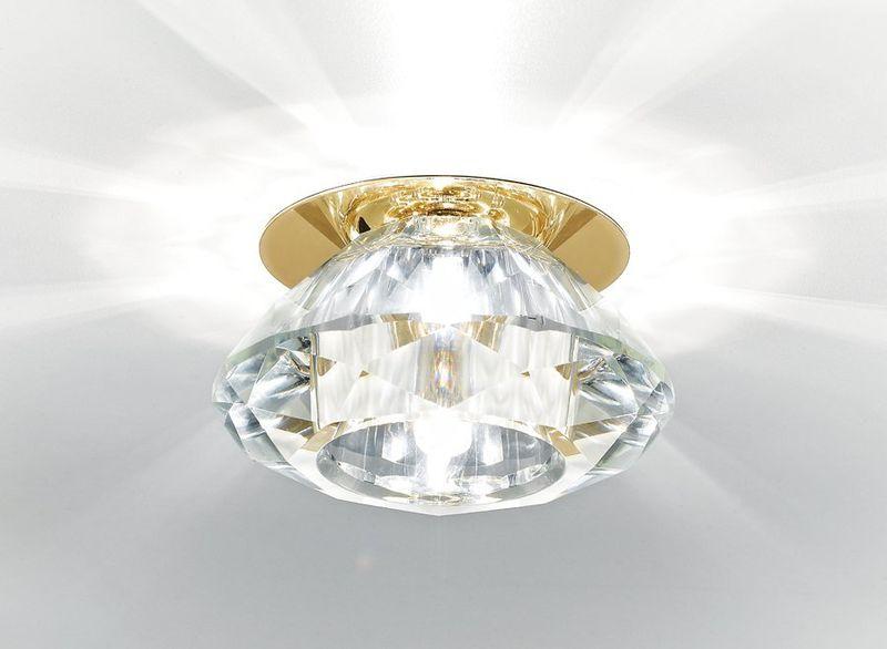 Точечный светильник Кристальный D8016 CL/G