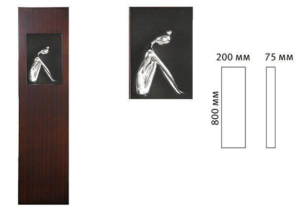 Панно Девушка в окне-1 16516A. Фото №2