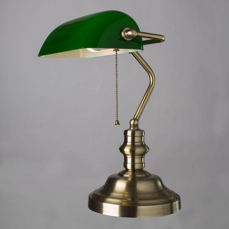 Настольная лампа Arte Lamp BANKER A2492LT-1AB. Фото №1