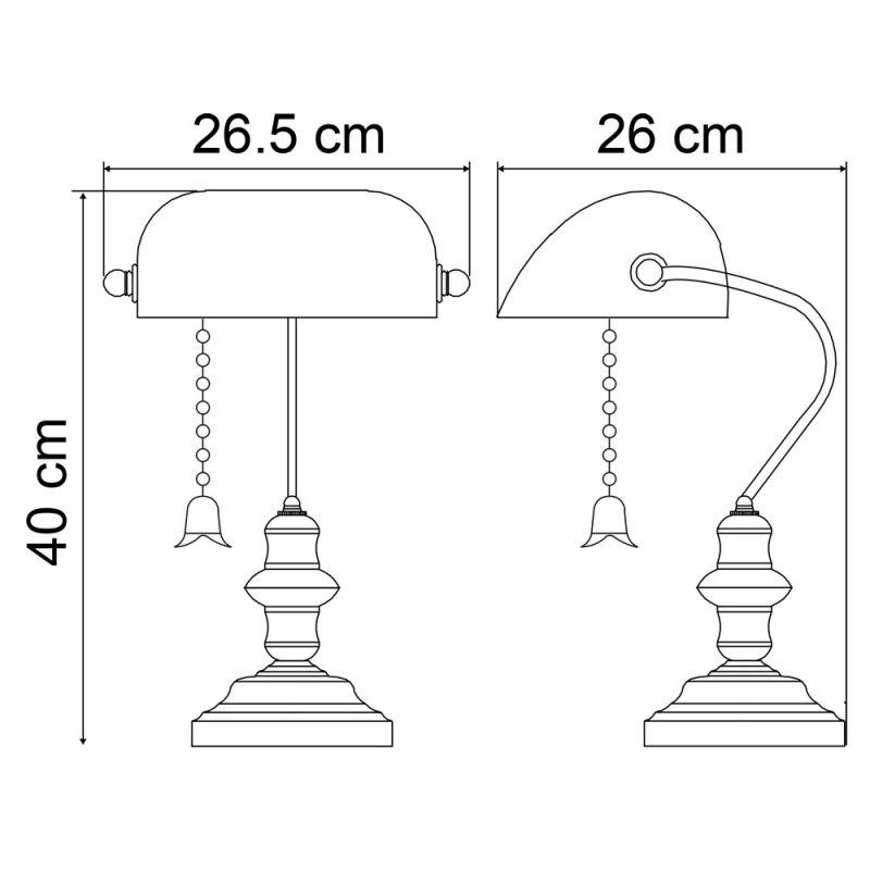 Настольная лампа Arte Lamp BANKER A2492LT-1AB. Фото №4