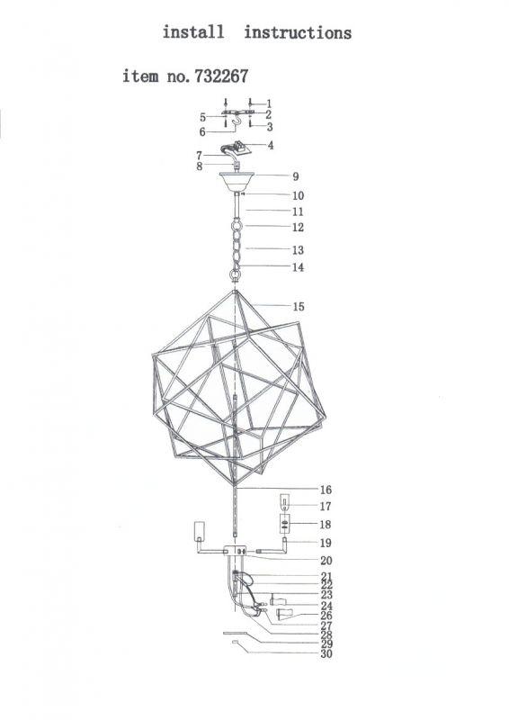 Люстра подвесная Gabbia 732267. Фото №7