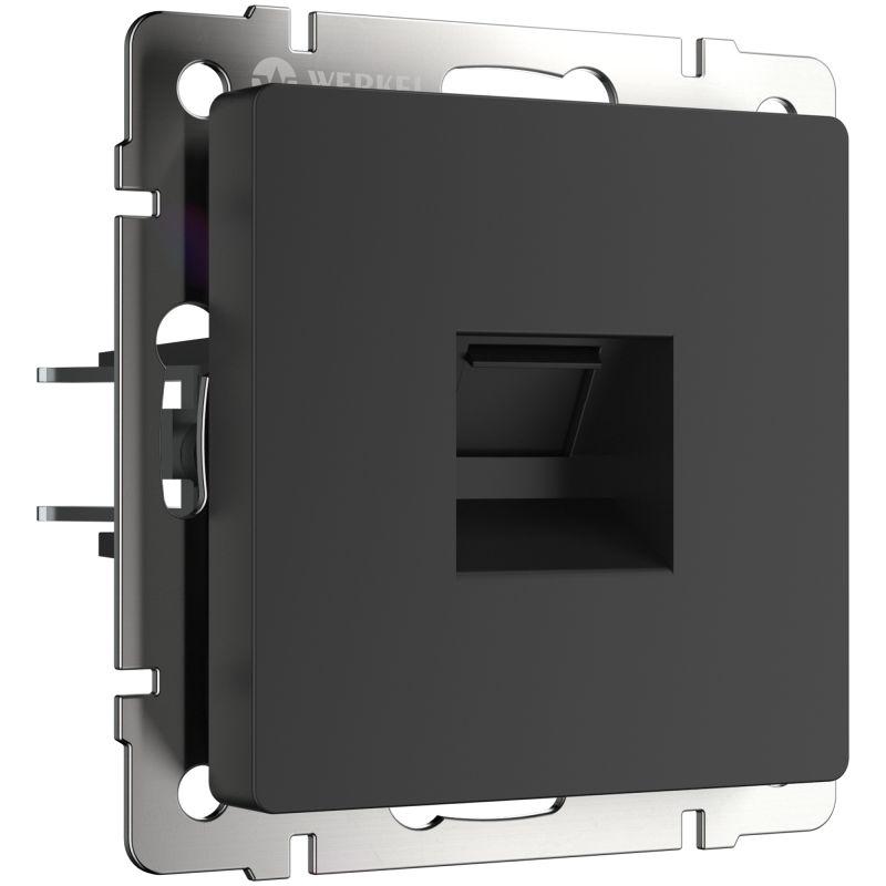 Розетка Ethernet RJ-45 Werkel (черный матовый) W1181008