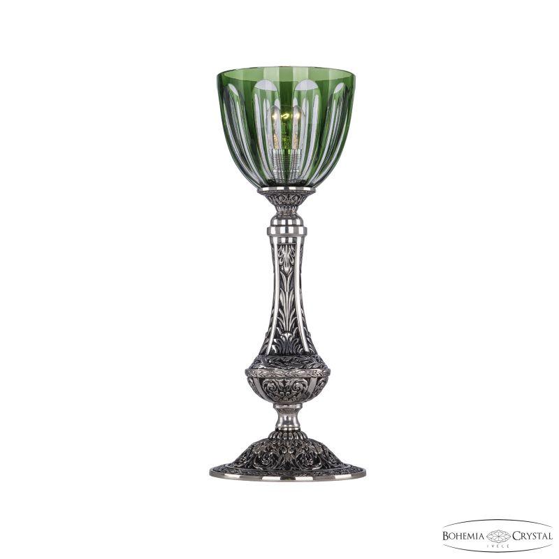 Настольная лампа Bohemia Ivele Crystal 71100L/15 NB P1 Clear-Green/H-1H